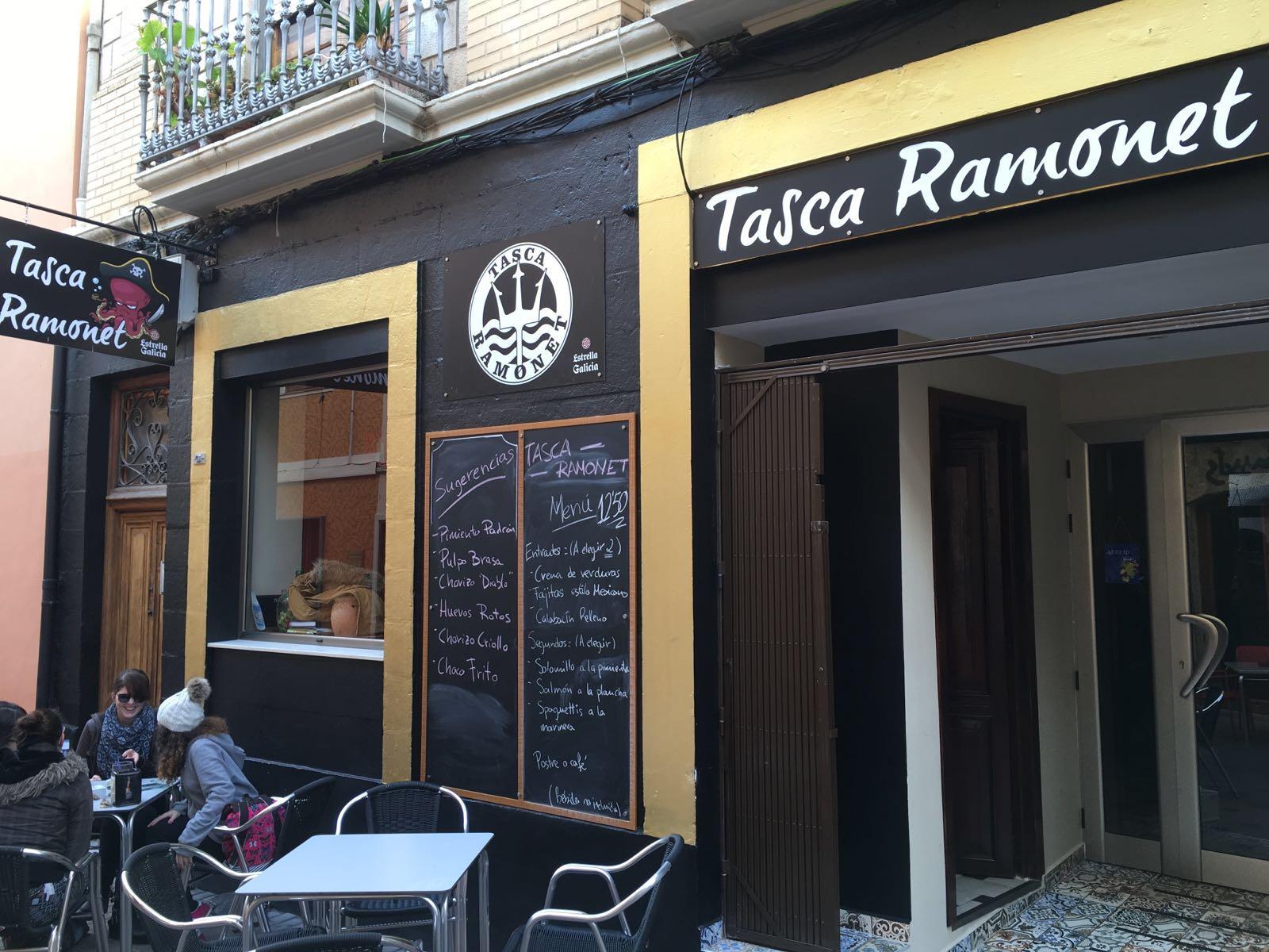 Fachada Tasca Ramonet Denia Calle Loreto
